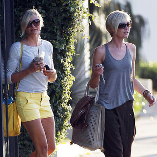 Cameron Diaz and Portia de Rossi at the Salon