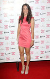 Dani King wore a pink dress for Naomi Campbell's Fashion for Relief charity dinner in London.