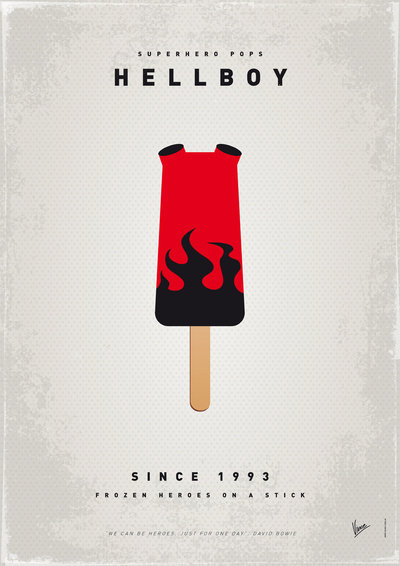 My Superhero Ice Pop: Hellboy ($18 to $55)