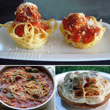 Reinvented Kiddie Food: Spaghetti and Meatballs