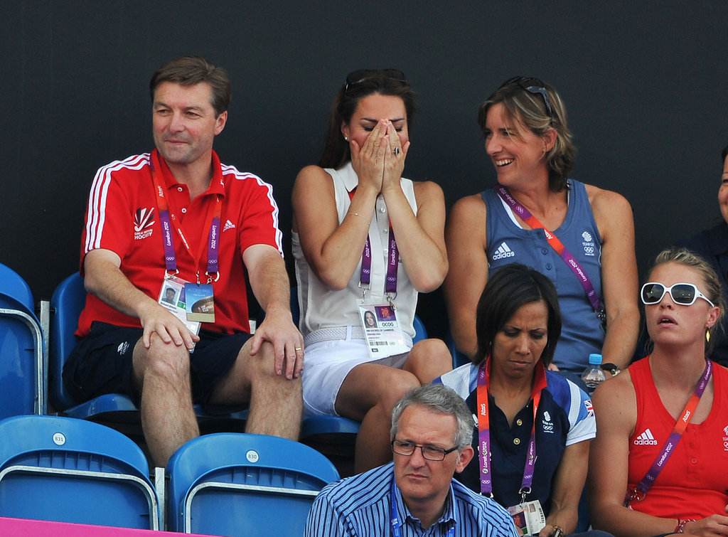 Kate was overwhelmed while rooting for Team GB's women's field hockey team.