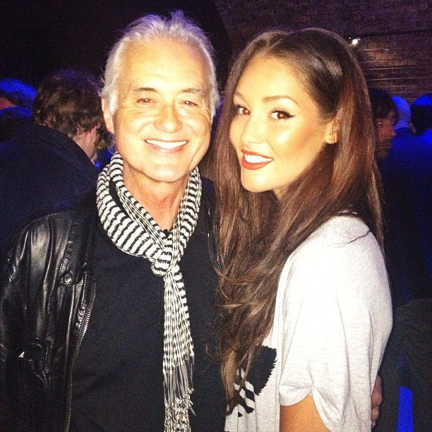 Erin McNaught was excited to meet musician Jimmy Page. Source: Instagram user mcnaughty