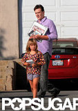 Matilda Ledger walked to the car with Jason Segel.