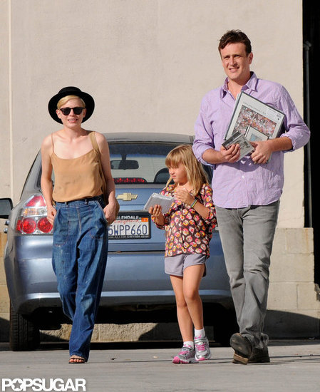 Michelle Williams, Jason Segel, and Matilda Ledger went shopping in LA.
