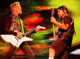 James Hetfield and bassist Robert Trujillo of Metallica played the second day of the sold-out event.