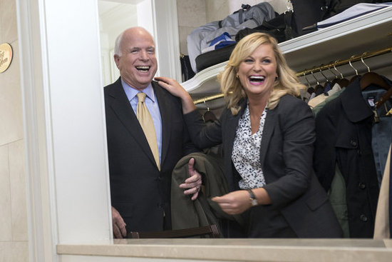 Leslie meets John McCain — I wonder who else she'll run into on the Hill?