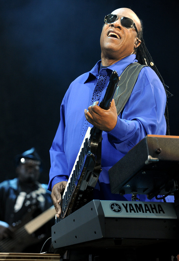 Stevie Wonder closed the festival with his Sunday-night set.