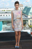 Jessica Biel posed in Berlin at the Total Recall photocall.