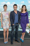 Jessica Biel, Colin Farrell, and Kate Beckinsale linked up for the Total Recall photocall in Berlin.