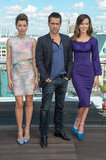 Jessica Biel, Colin Farrell, and Kate Beckinsale got together for the Total Recall photocall in Berlin.