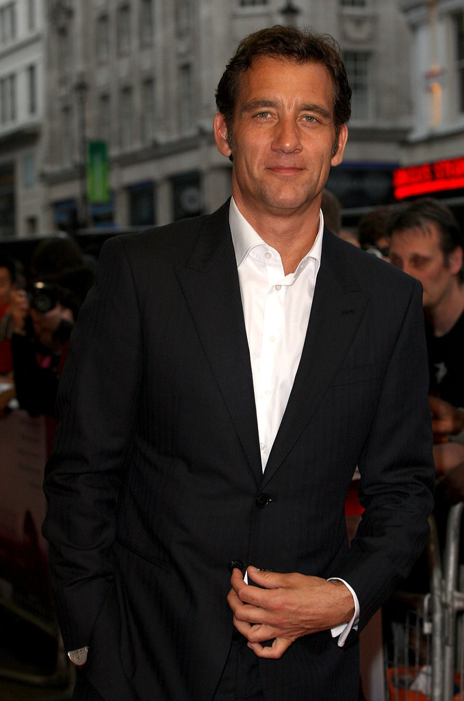 Clive Owen looked handsome in a suit.
