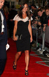 Pippa Middleton wore strappy heels on the red carpet.