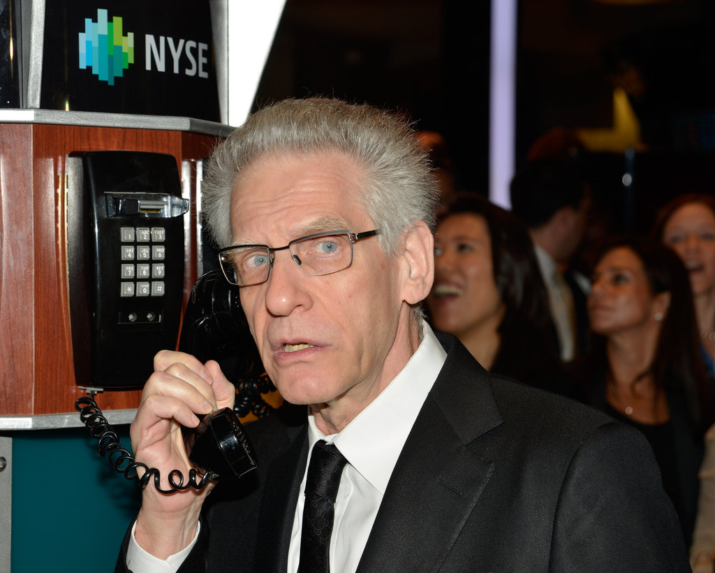 David Cronenberg helped open the New York Stock Exchange.