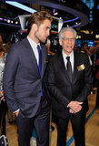 Robert Pattinson and director David Cronenberg made a visit to the  New York Stock Exchange.