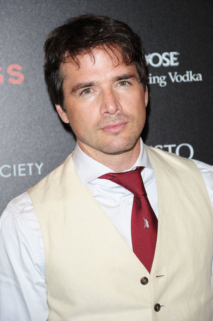 Matthew Settle wore a red tie to the screening of Lawless in NYC.