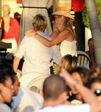 Portia de Rossi showed Ellen DeGeneres love in St. Barts in December 2010.
