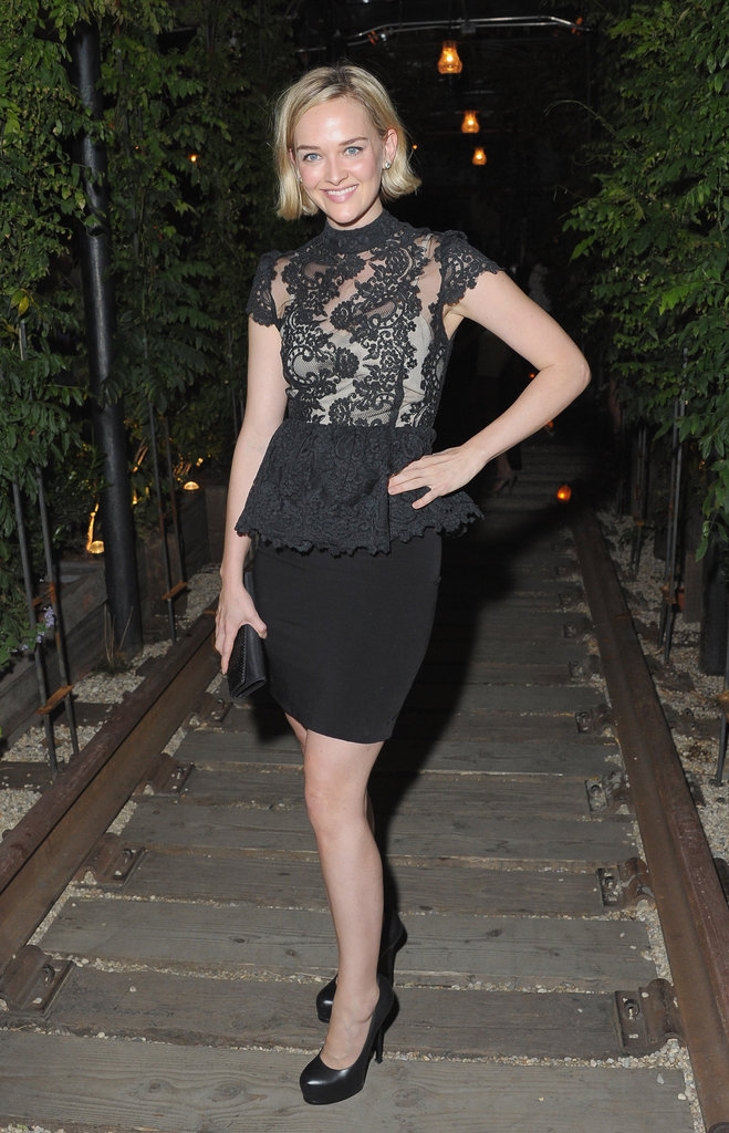 Jess Weixler posed at the afterparty of the screening of Lawless in NYC.