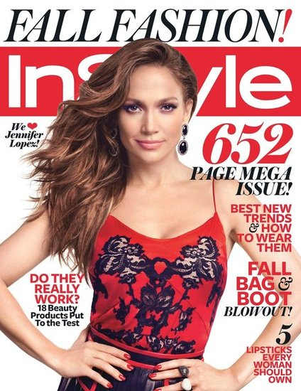 Jennifer Lopez graces the cover of InStyle's September 2012 issue.