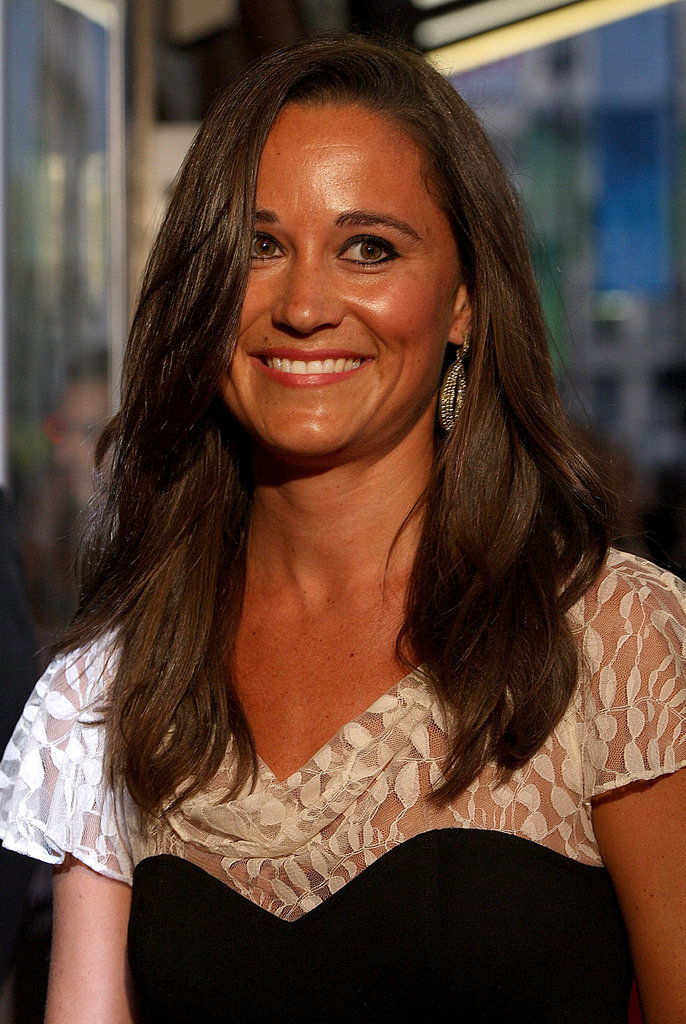 Pippa Middleton was all smiles as she arrived.