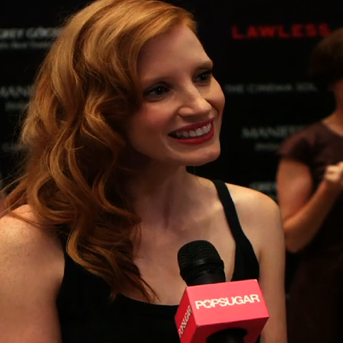 Jessica Chastain in YSL at Lawless Premiere | Video