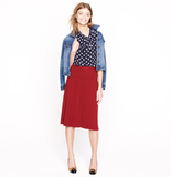 Back-to-school staple: J.Crew Pleated Sweater-Skirt ($128) Why it shouldn't be overlooked: The red hue is bold, the pleating is subtle, and the sweater texture is perfect for the cooler temps — pretty much the only three reasons you need.
