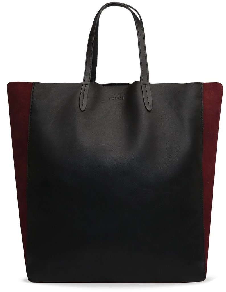 Back-to-school staple: Mango Touch Leather and Suede Shopper Bag ($170) Why it shouldn't be overlooked: Instead of falling back on a sturdy Longchamp carryall or a canvas backpack (we still love both those options), we're kind of obsessed with idea of putting a more sophisticated spin on book-bag wares. Maroon-hued suede side panels and a clean shopper-bag shape but still enough room to hold books and a laptop? Sold.