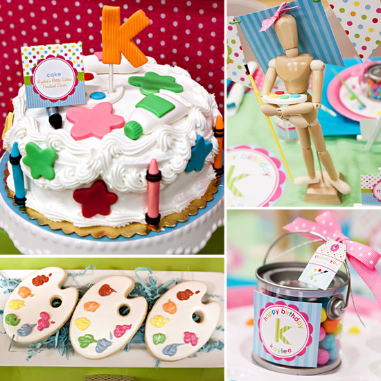 arts and crafts kids birthday party popsugar moms