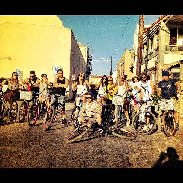Wilmer Valderrama rode with his friends on the West Coast.  Source: Instagram user wilmervalderrama