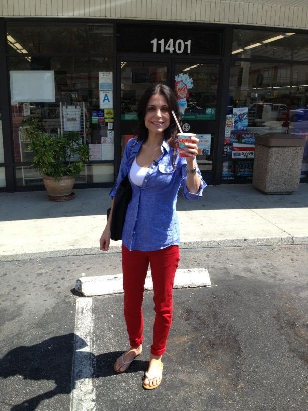 Bethenny Frankel shared a photo on free Slurpee day.  Source: Twitter user Bethenny