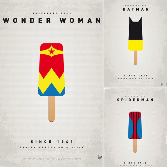 Superheroes on a Stick: Comic-Inspired Popsicle Prints
