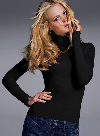 A slightly sexy fitted turtleneck is a wardrobe staple. Victoria's Secret Silk & Cashmere Turtleneck Sweater ($50)