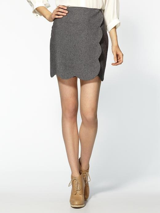 This wool, scalloped iteration is a surefire hit for class. Pim + Larkin Scalloped Wrap Skirt ($45-$59)