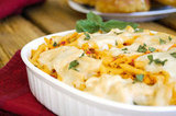 Thirty-Minute Cheesy Chicken Pasta Bake
