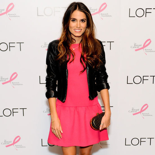 Nikki Reed Wearing Hot Pink Dress