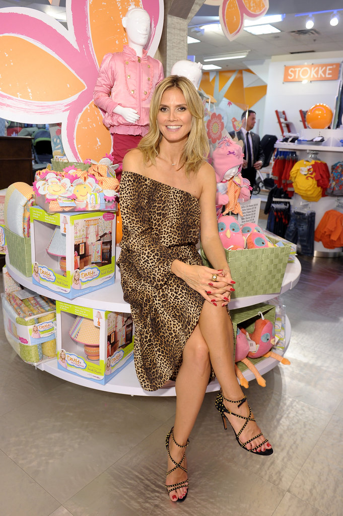 "Heidi Klum smiled at her Babies""R""Us collection launch in NYC."