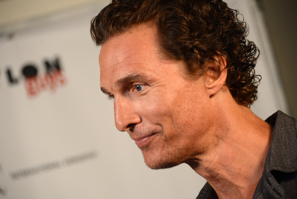 A candid shot of host Matthew McConaughey.