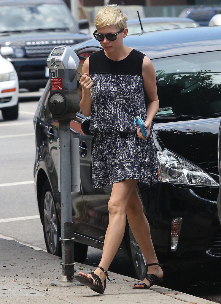 Michelle Williams wore sandals in Beverly Hills.
