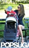 Miranda Kerr Plays at a Park With Flynn and Frankie