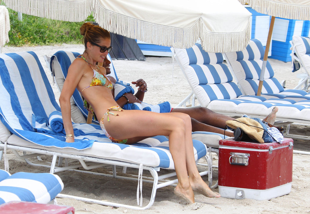 Bikini-Clad Doutzen Kroes Perfects Her Tan in Miami
