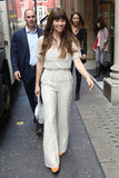 Leave it to Jessica Biel to pull off a cream lace Valentino jumpsuit with orange accents. This latest style sighting in London proves, yet again, that the brunette beauty continues her promo tour prowess brilliantly.