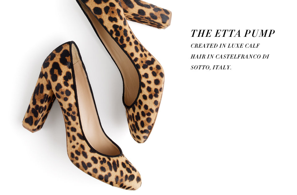 J.Crew Collection Etta Calf Hair Pumps ($350)