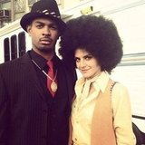 Eliza Coupe and Damon Wayans Jr. showed us a retro look on the set of Happy Endings.  Source: Instagram user elizamuthafuckincoupe