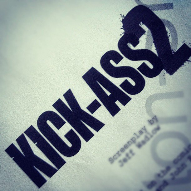 Christopher Mintz-Plasse gave us a peek at the Kick-Ass 2 script.  Source: Instagram user mintzplasse