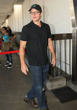 Matt Damon Heads Home to Boston With Luciana and Their Matching Girls