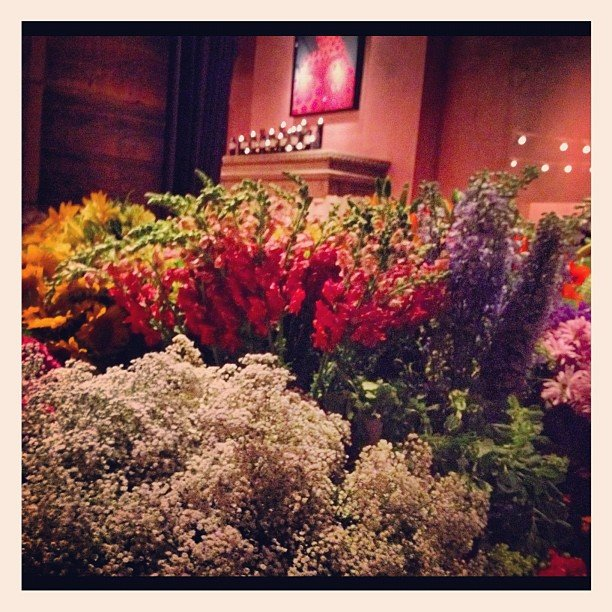 Flowers galore at the Clos du Bois Rouge party at the Gramercy Park Hotel, just gorgeous!