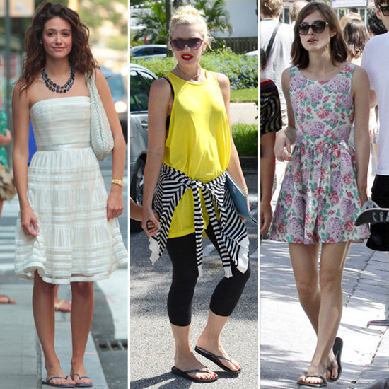 Sure, flip-flops can be an ultracasual footwear choice, but these celebs know how to style them to perfection. Take a look!