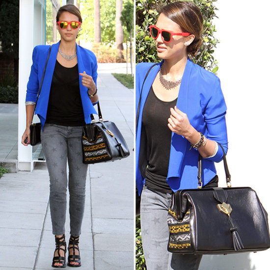 Oh, you like Jessica Alba's Cobra Society tribal-print bag? It's all yours to shop now.