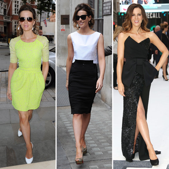 Kate Beckinsale's Total Recall Promo Wardrobe