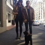 Lara Bingle and her friend went dog walking. Source: Instagram user mslbingle