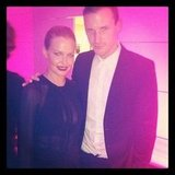 Lara Bingle and Dion Lee linked up at the David Jones fashion launch. Source: Instagram user mslbingle